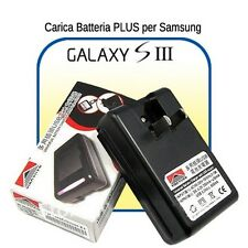 CARICABATTERIE ALIMENTATORE BASE per BATTERIE Samsung GALAXY S3 SIII i9300