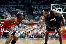 "Michael Jordan VS Lebron James Basketball Star Fabric poster 20"" x 13"" Decor 121"