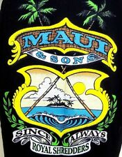 Vintage 80's Maui and Sons Since Always Royal Shredders Tank Top T-Shirt Men's L