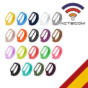 ACTECOM Recambio para Pulsera Actividad Xiaomi Mi Band 4 3 Smartwatch Correa Rel