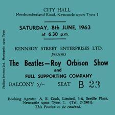 Beatles/Roy Orbison Concert Coasters June 1963 ticket High quality mdf Coaster