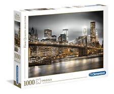 Puzzle Clementoni 1000 pezzi New York Skyline Ponte di Brooklin notte cm 69x50