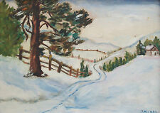 C PALMER - Impressionist Style Winter Landscape Painting - Canada - Early 20th C