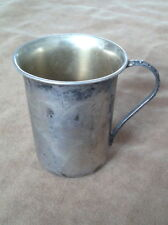 Silver 84P, (P-Palestine) Cup/Mug Marked Silver='Kesef' (In Hebrew). Before 1950