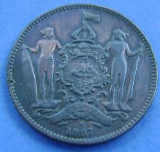 British North Borneo 1887 H - 1 cent, one cent. KM# 2