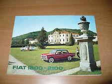 BROCHURE ORIGINALE FIAT 1800 - 2100 6 CILINDRI BERLINA E FAMILIARE STATION WAGON