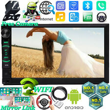 7 Inch Android Car Stereo Radio MP5 USB AUX HD Bluetooth Wifi GPS Touch Screen
