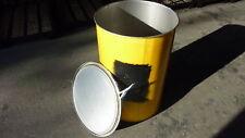 200 Liter STAHLFASS GELB Metallfass Stahlfässer Ölfass Fass Smoker Feuertonne