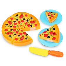 Children 6pcs Play Pizza Kitchen Pretend Fake Food Kids Cooking Cutting Gift Toy