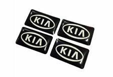 4 adesivi piccoli stemma logo volante porta portiera interni auto Kia sportage