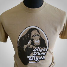 Right Turn Clyde Movie Themed Retro T Shirt Tan Orangutan Every Which Way