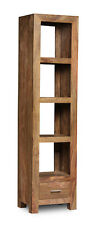 CUBE NATURAL SHEESHAM FURNITURE SLIM JIM BOOKCASE (C9N)
