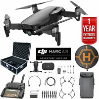 DJI Mavic Air Onyx Black Drone Case Landing Pad Extended Warranty Deluxe Bundle