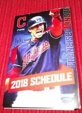 TWO--2018 Cleveland Indians Official MLB Pocket Schedule-2nd Edition