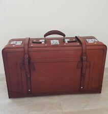 Oldtimer Leder Vintage Koffer Cabrio Nostalgie Suitcase Gepäckträger Schutzhülle