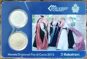 Coincard 2 pièces 1 euro et 50 cent 2013 SAINT MARIN coin-card J Balestrieri A1a