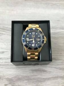 Ice Watch Uhr Ice Steel - Gold Blue Herrenuhr Neu