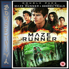 THE MAZE RUNNER & MAZE RUNNER THE SCORCH TRAILS  *BRAND NEW DVD DOUBLEPACK ***