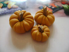 LOT 3 pumpkins miniatures 1:12 scale, maison de poupèe, puppenhaus, dolls house