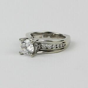 A. Jaffe Designer 18k White Gold and Diamond Engagement Ring Semi-Mount