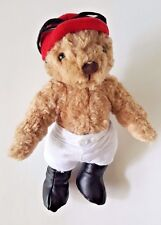 "HERRINGTON TEDDY BEARS JOCKEY HORSE RACING TEDDY BEAR W/ CAP 10"""