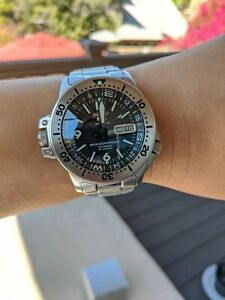 Seiko Diver Atlas Day Date SKZ211K1 Men's Automatic Watch - Silver MOD