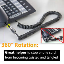 2 Telephone Handset Cord Detangler 360 Extended Rotating Phone Wire Cable 7cm US