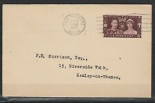 GB 1937 KGVI 1½d 1937 CORONATION ON COVER PRE-RELEASED 11 MAY