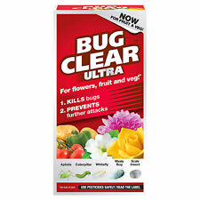 More details for bug clear ultra concentrate 200ml kills bugs for flowers fruit veg insecticide