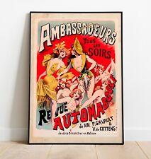 Vintage Art Nouveau Poster, Art Nouveau Print, Art Nouveau Art, Wall Art