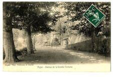 CPA 04 Alpes de Haute-Provence Digne-les-Bains Avenue de la Grande Fontaine
