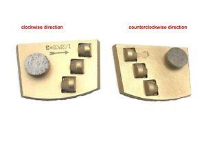 Trapezoid Lavina Concrete Grinding PCD Diamond For Epoxy Removal  Glue Paint