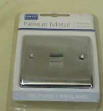 BG Nexus Metal Polished Chrome 1 Gang Master Telephone Socket Npcbtm1 Mirror