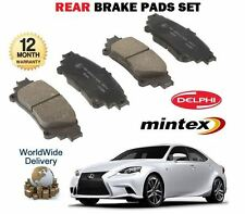 FOR LEXUS IS250 IS300H HYBRID 2013 > NEW REAR BRAKE DISC PADS SET