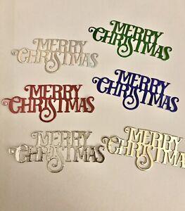 Merry Christmas Die Cuts