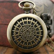 Classic Anime Black Butler Steampunk Vintage Chain Pocket Watch Mens Xmas Gift