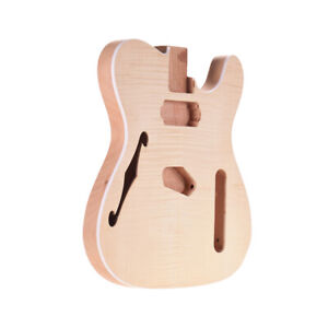 Unfinished Electric Guitar Body Mahogany Wood Blank Barrel for TELE Style Guitar