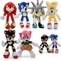 Sonic Plush Doll Toys  Sonic Shadow Amy Rose Knuckles Tails Plush Cotton Toys