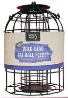 Hanging Bird Feeders Fatball Fat Ball Caged Squirrel Guard Green Wild Feeder