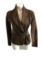 Ralph Lauren Jeans Company Woman's Wrap Sweater SIZE XS Brown Shawl Collar Belt