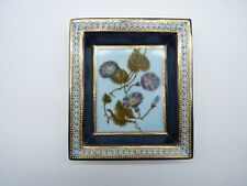 Regis DHO Paris Gold Gilded Hand Painted Floral Dish