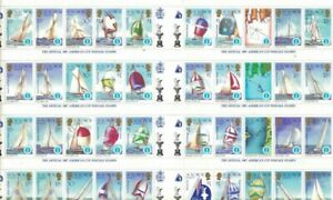 STAMPS SOLOMON   ISLANDS -1987 AMERICAS  CUP FULL SOUVENIR SHEET - 50 MNH stamps