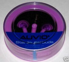 Purple Auvio stereo earbuds.. Brand new with case!!