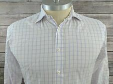 TM Lewin White Windowpane Check Button Down Mens Dress Shirt Size 15 1/2 - 33