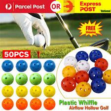 50Pcs 4CM Plastic Whiffle Airflow Hollow Golf Practice Training Balls Golf Sport