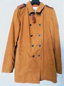 wasserabweisender Luxus CINQUE Trenchcoat Kurzmantel Jacke Gr. S / 36-38 braun