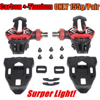 RGB Ultralight 155g Road Bike Clipless Pedals Carbon Tianium Self-Locking Pedals