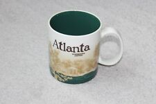 2010 Starbucks Coffee 16 fl oz Ceramic Mug Global Icon Collectors Series Atlanta