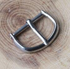 inner opening nickel steel Nos item Rounded 1940s/50s vintage watch buckle 16mm