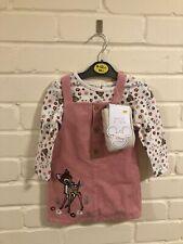 Disney Bambi Kids Baby 9-12 Months Dress Dunagrees Summer Socks BNWT Infant